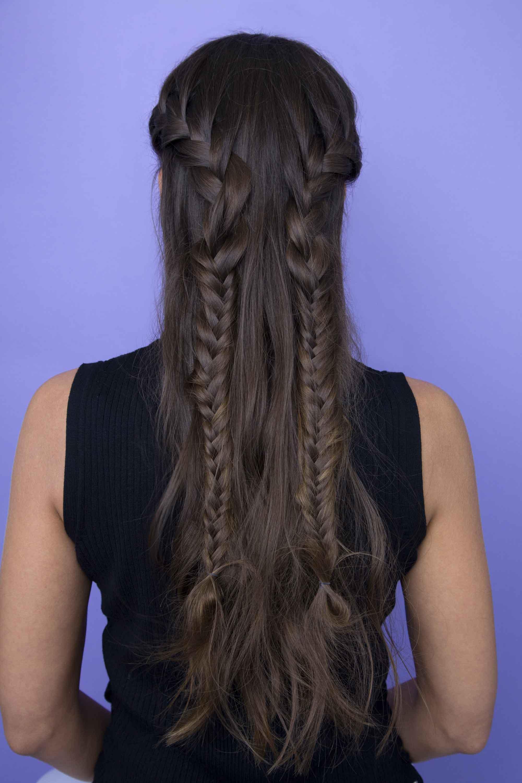 braided long black hairstyles
