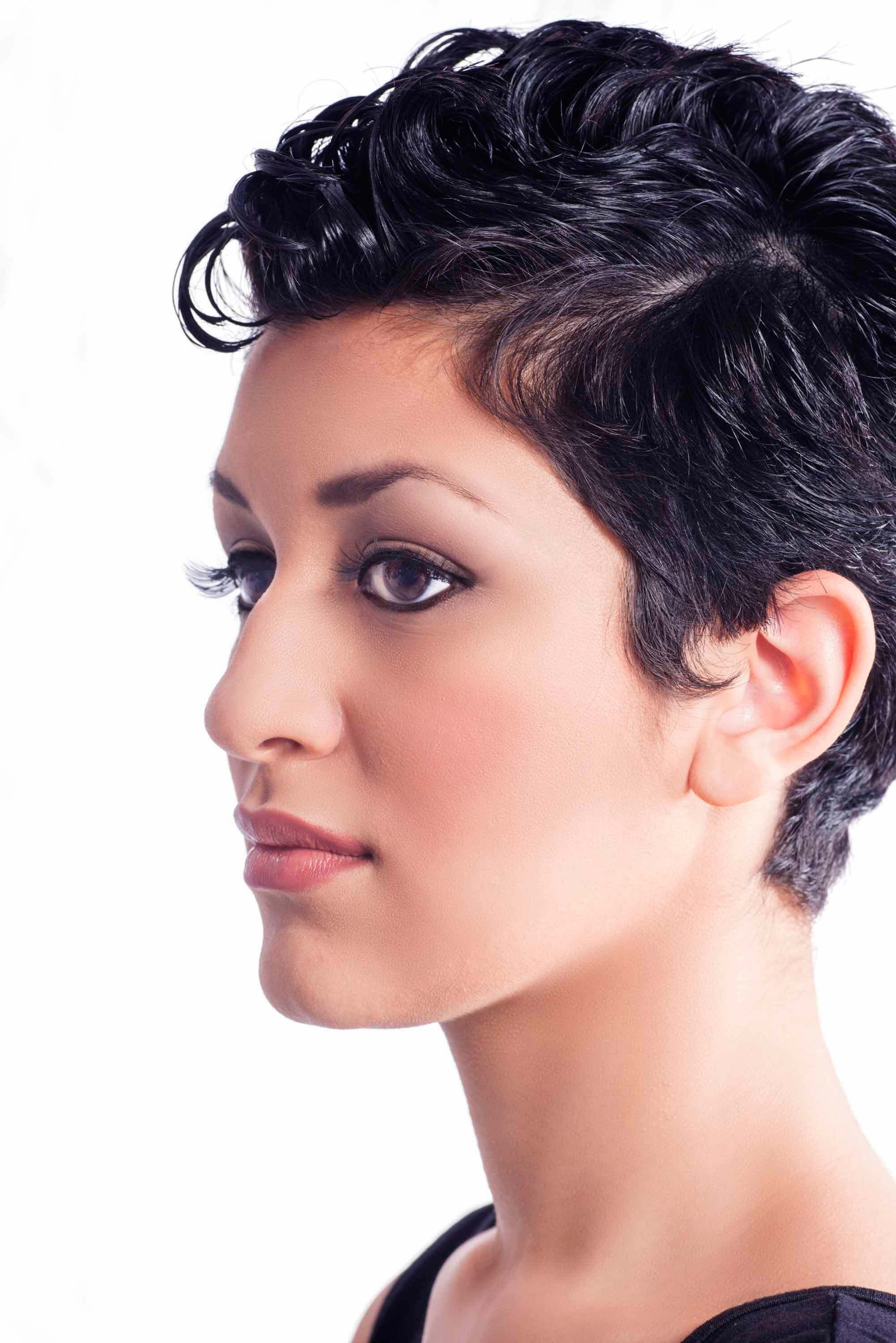 ways to style pixie cuts for curly hair
