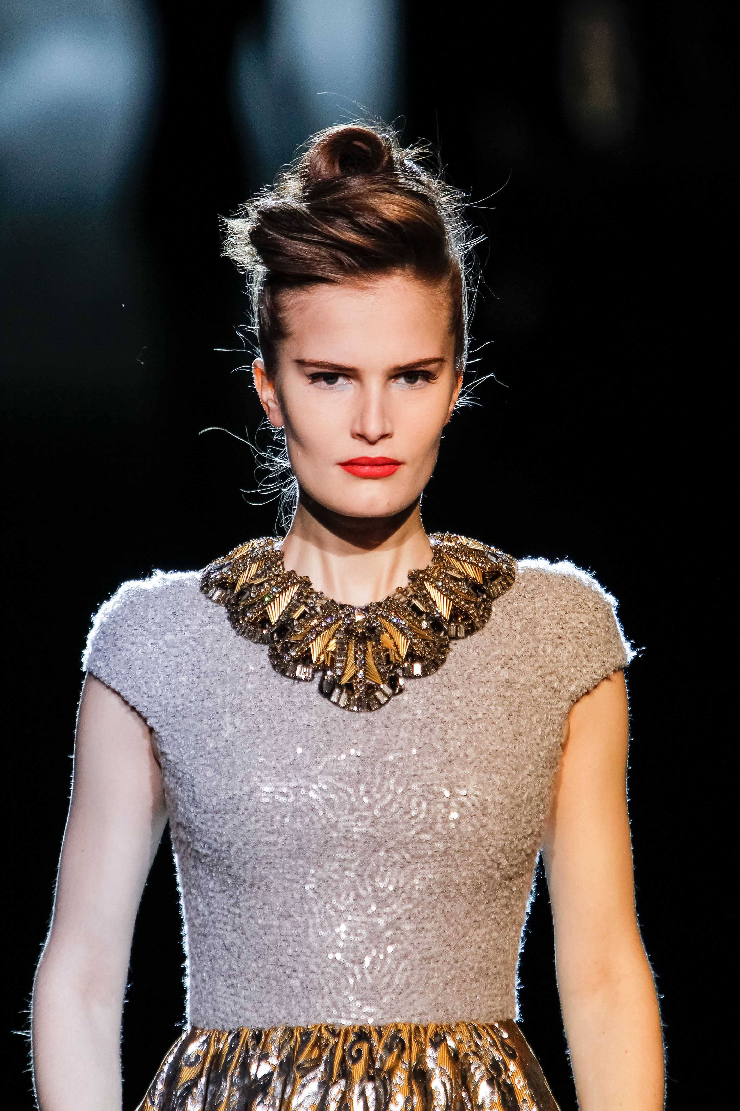create winter ball hairstyles with this chic pompadour