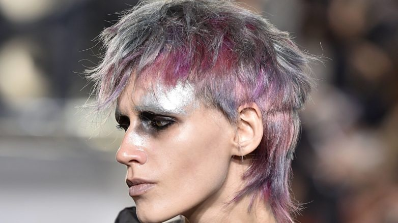 edgy short hairstyles neon mullet