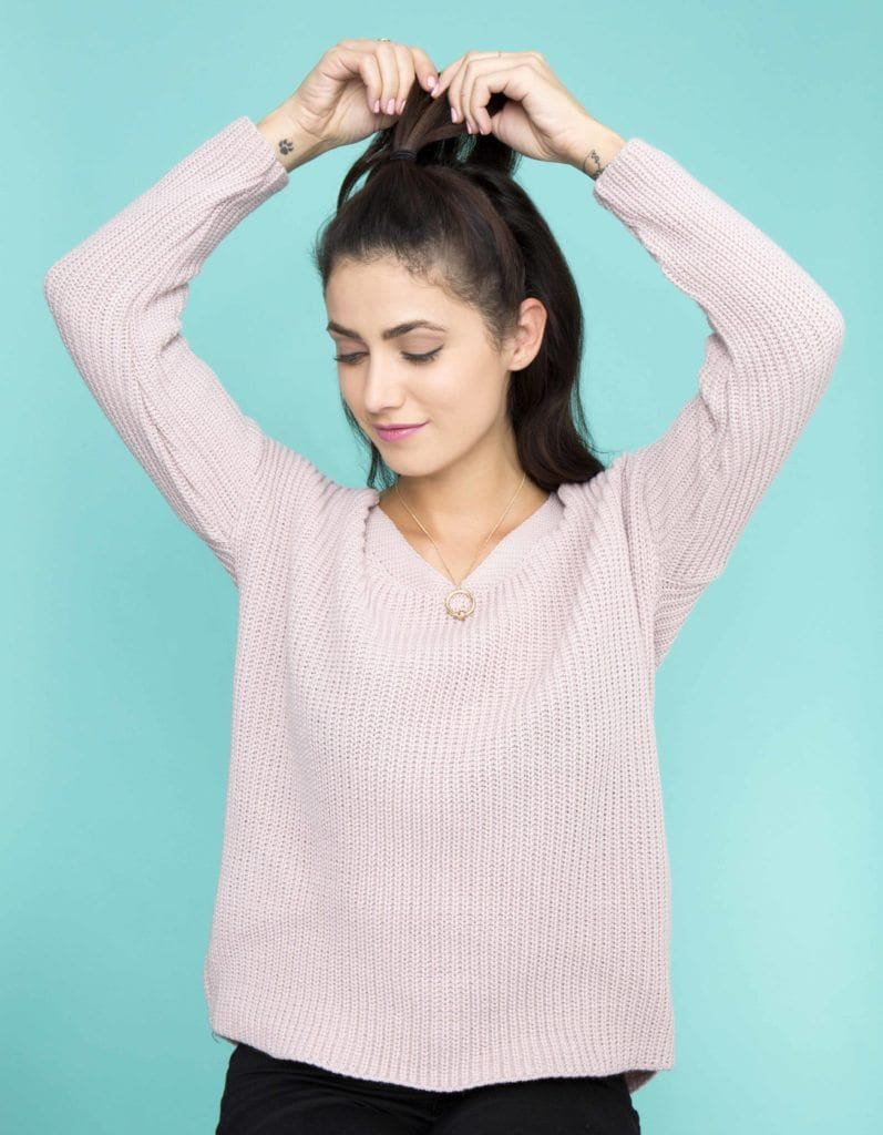 how to make fake bangs: create your updo