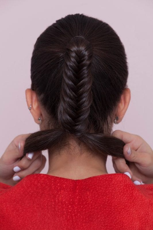 fishtail braid ponytail tips and tutorial