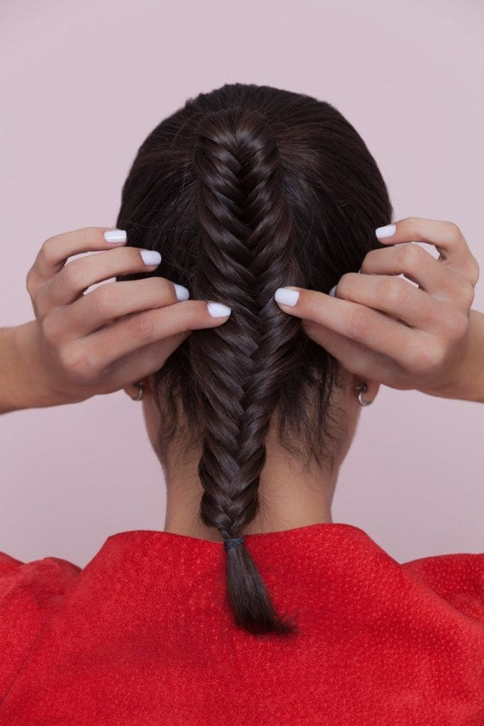 fishtail braid ponytail: pancake your plait