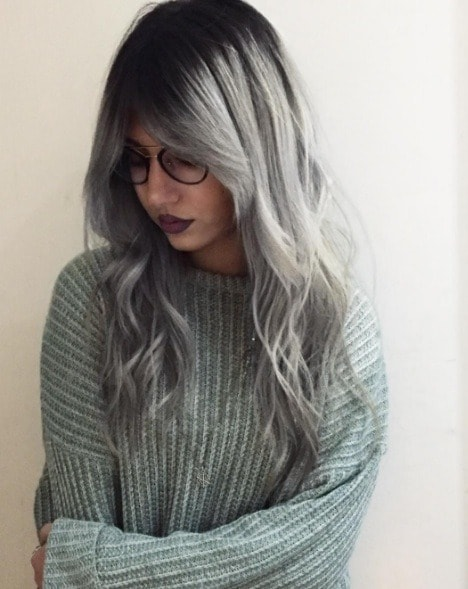 gray hair color trend from @noemi cara