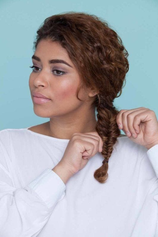 how to fishtail braid and pancake your plait