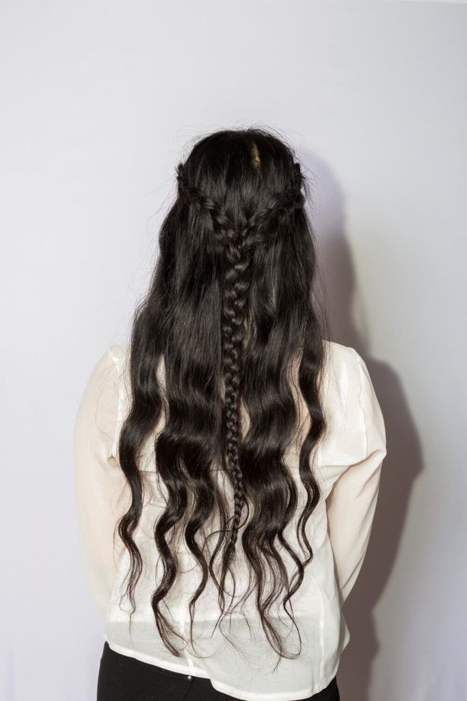 long black hairstyles with braids