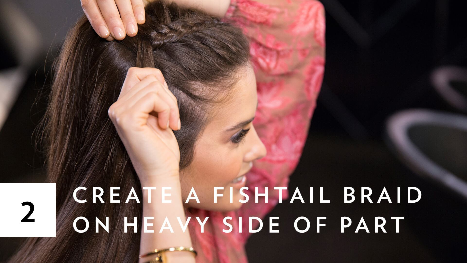 blogger Paola Alberdi from Blank Itinerary creating mermaid fishtail braid plaits