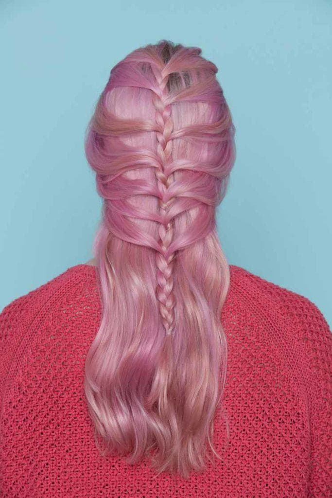 mermaid hair full plait