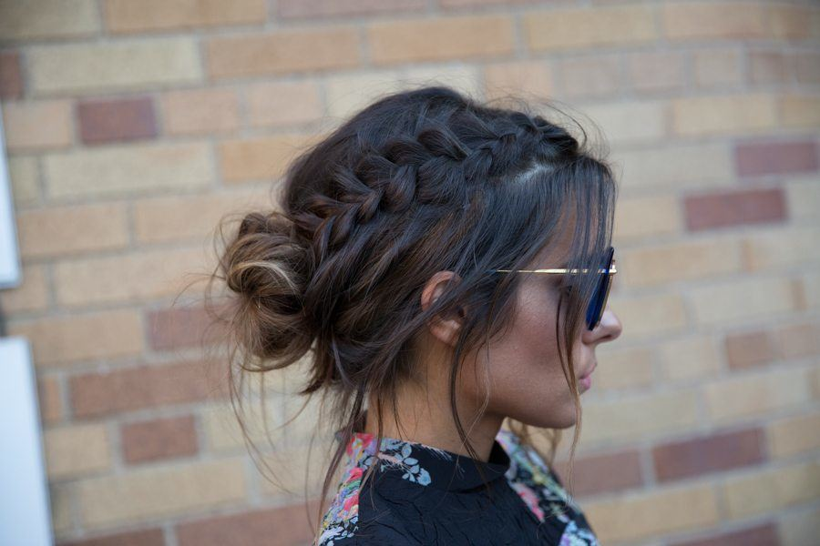 popular hairstyles braided updo