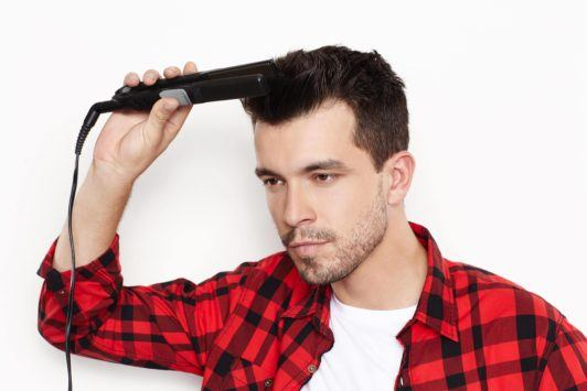 flat iron short hairstyles for men