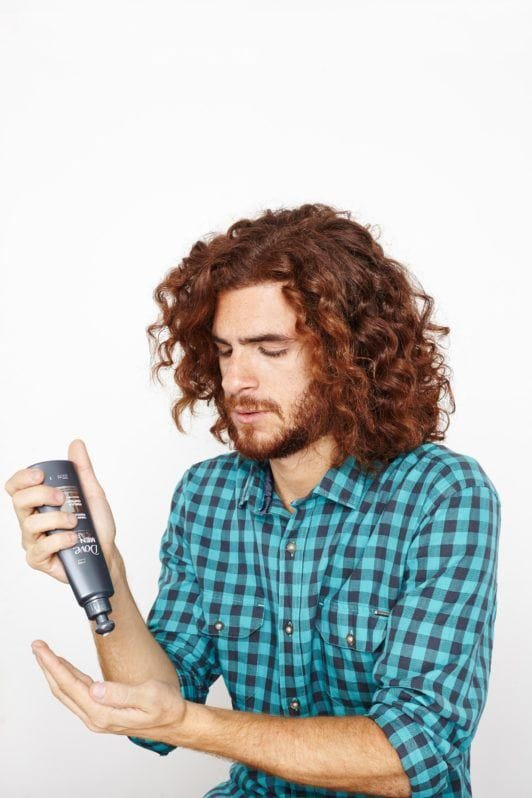 how to create the man bun: apply a styling cream