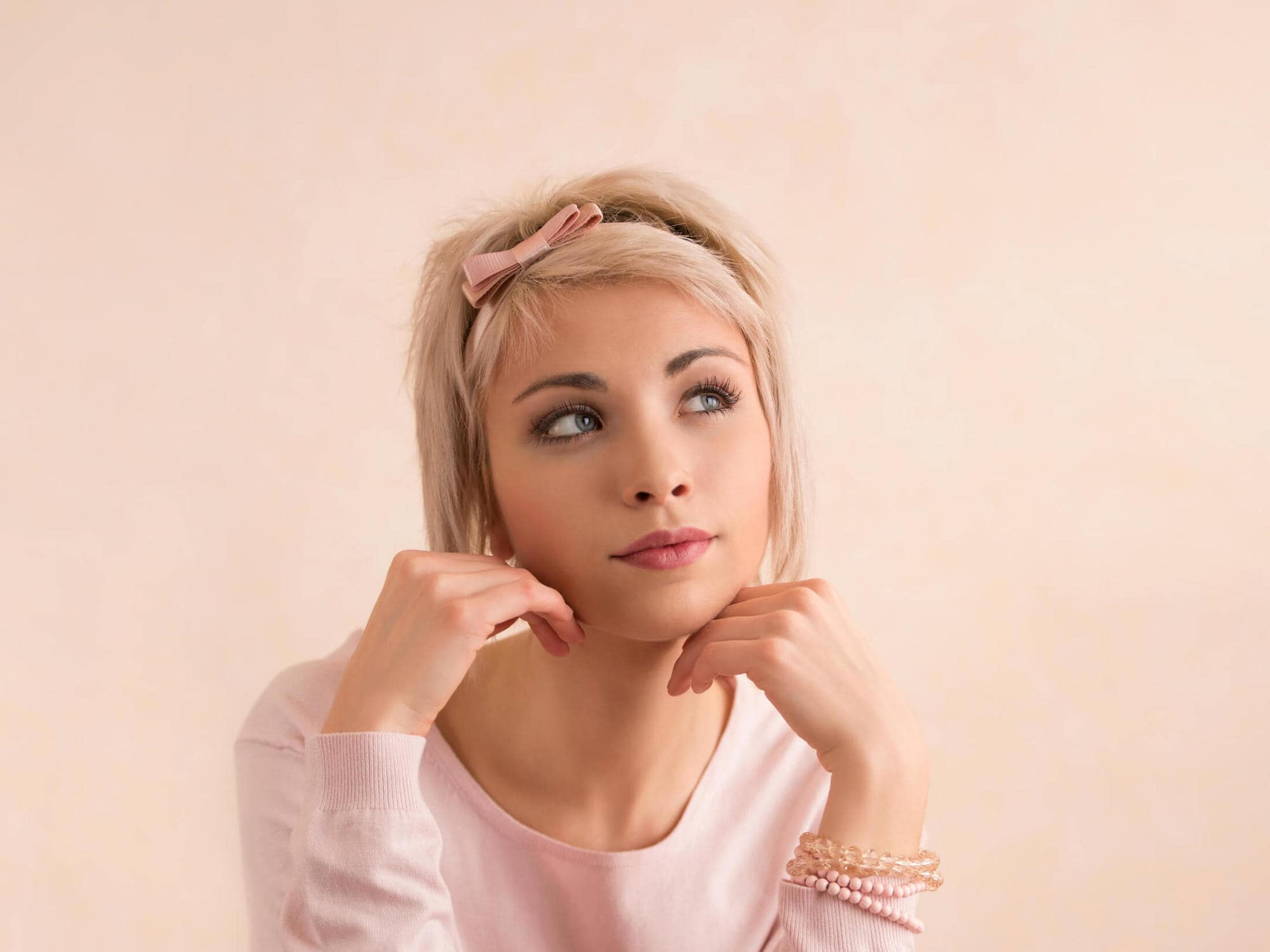 how to style straight hairstyles for short hair headband