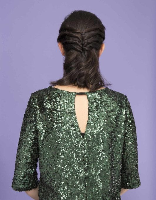 how to create a chic twisted half-up ponytail