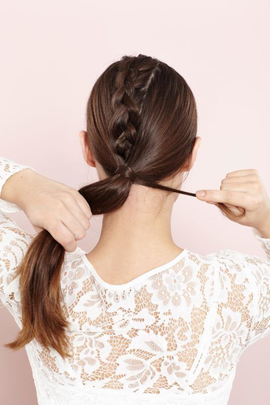 unicorn braid ponytail cover hair with elastic