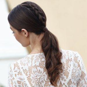 a gorgeous unicorn braid ponytail