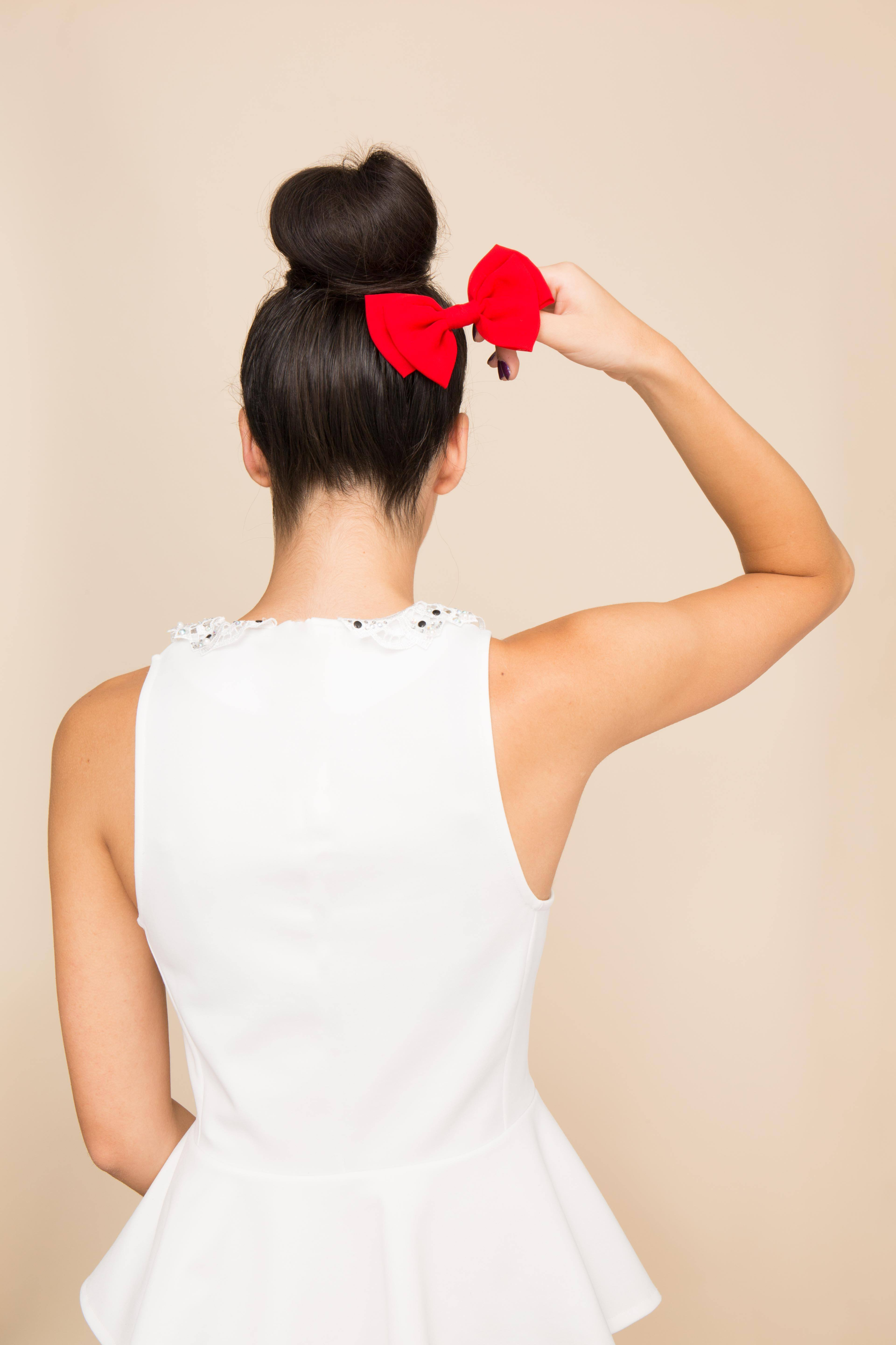 how to create a stylish updo with bow hairstyle