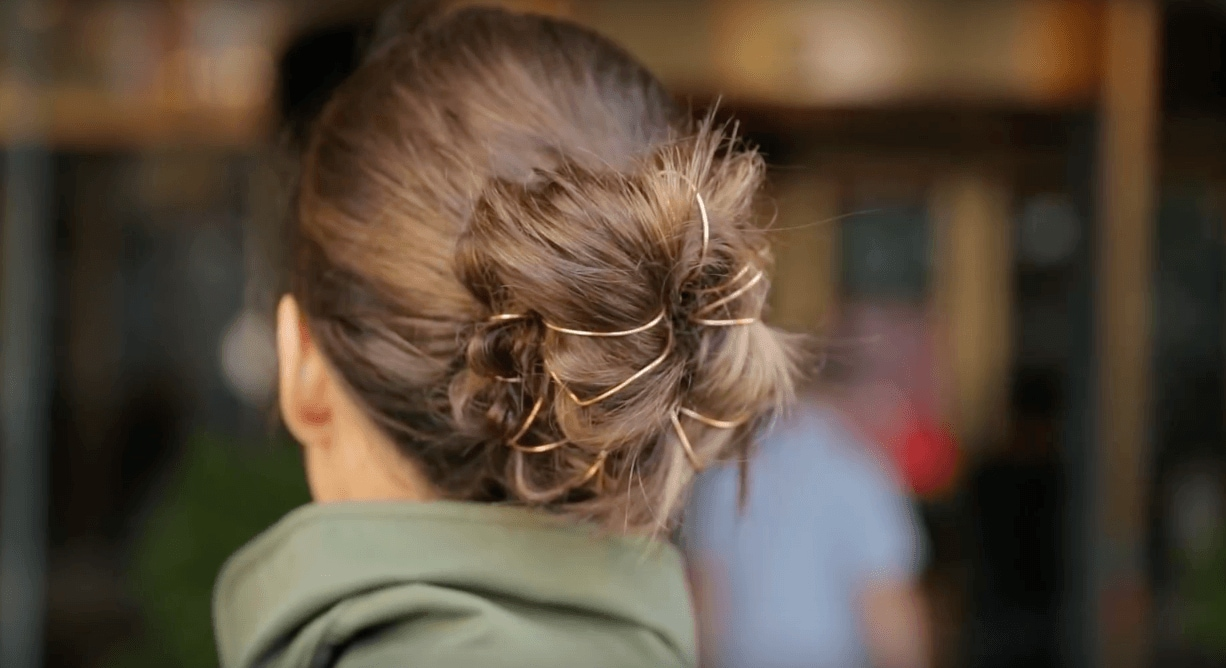 romantic Valentine's Day Updos with bling
