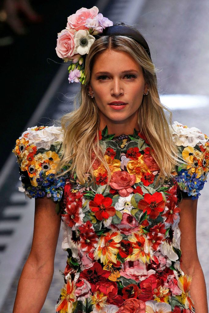 bold hair accessories with flowers
