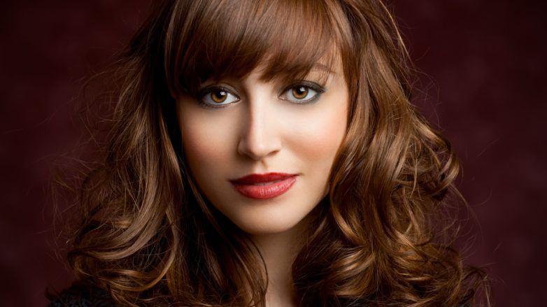 curly hair fringe brown hair bangs