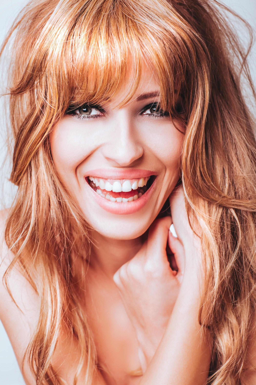 curly hair fringe red hair