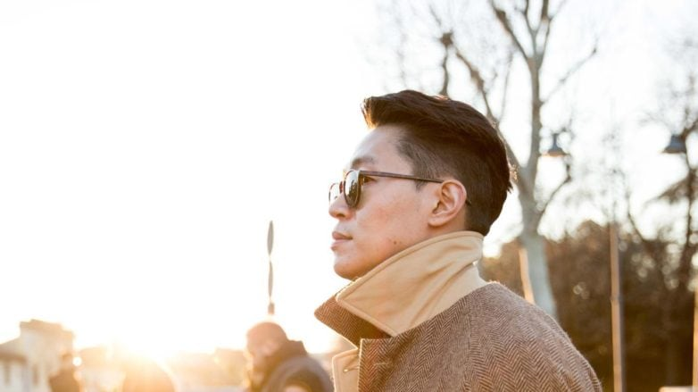 stylish asian man with cool combover hairstyle men's hairstyle products