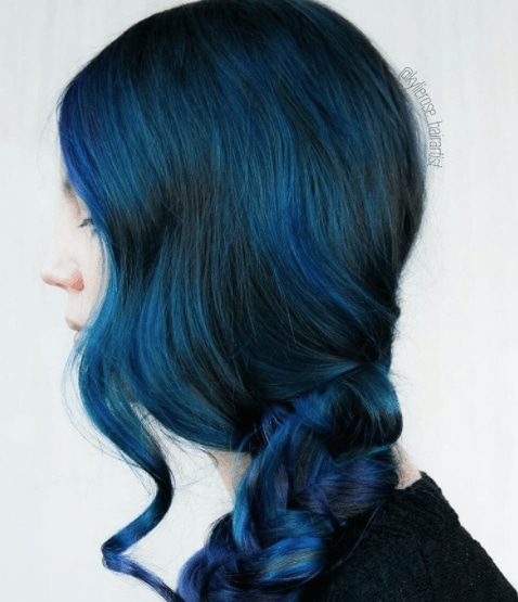 get inspired by sapphire jewel toned hair colors
