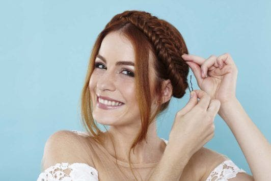 fishtail plait step-by-step: secure your braid