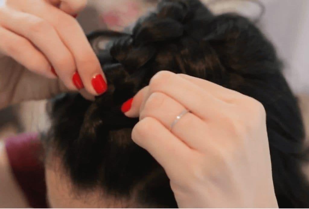nikki phillippi creating fuller look on braid