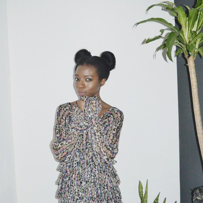trendy space buns from blogger Haireducation