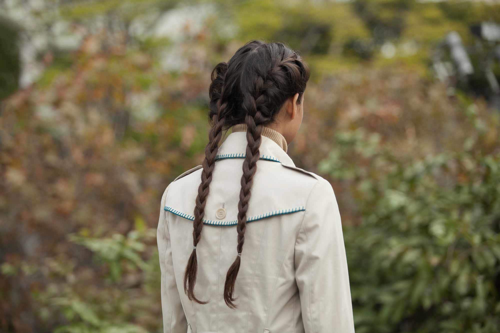 updo hairstyles for work: boxer braids