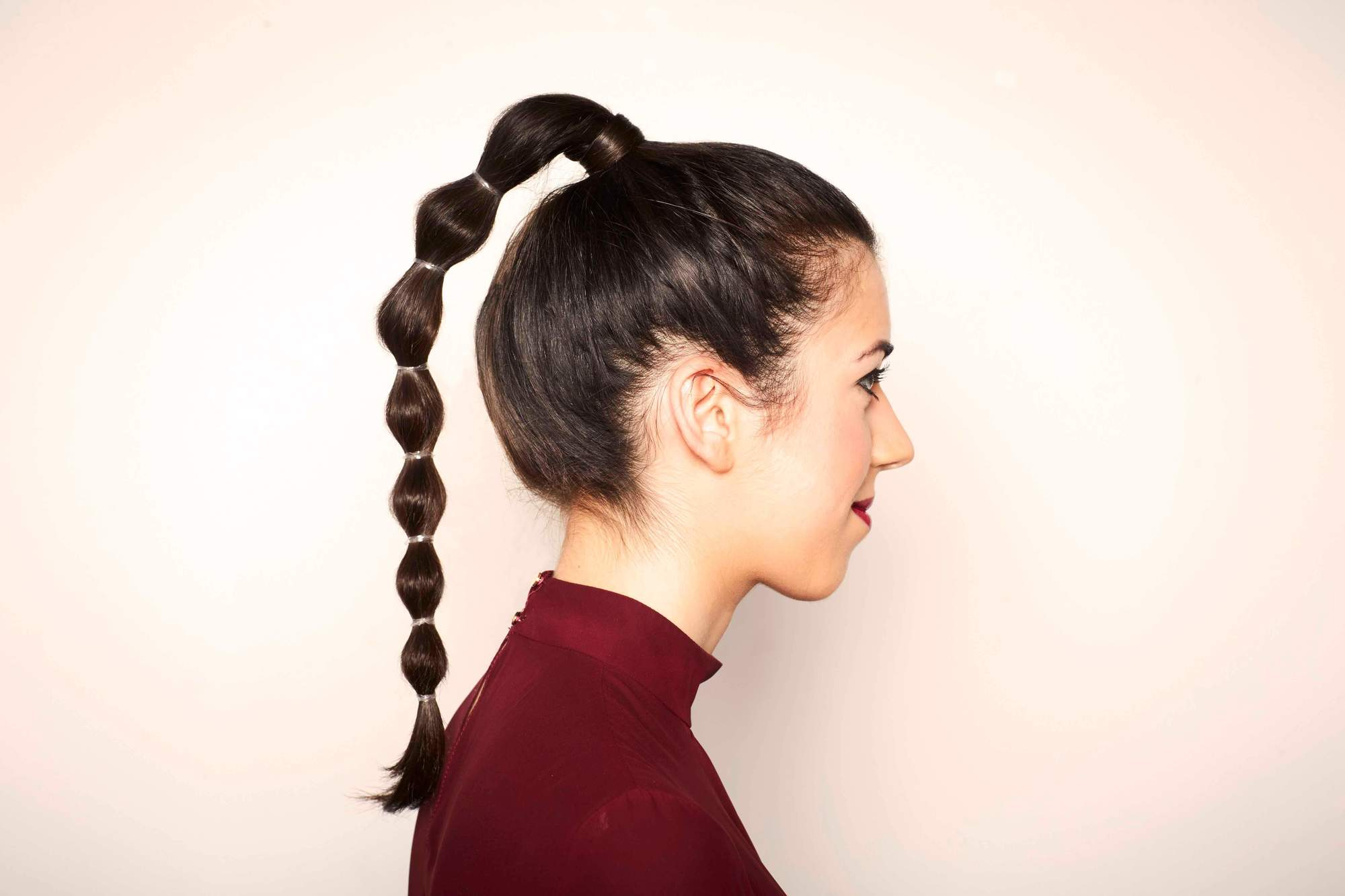 beautiful heatless hairstyles bubble ponytail