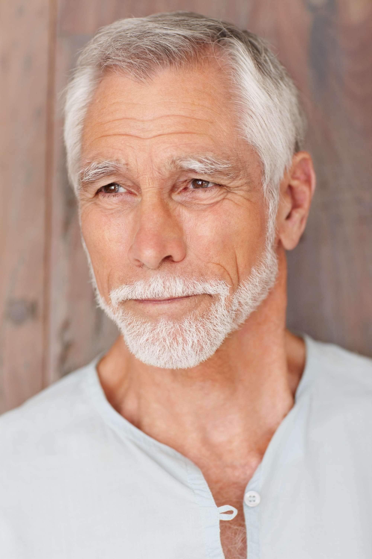 cool short haircuts white short hair and beard