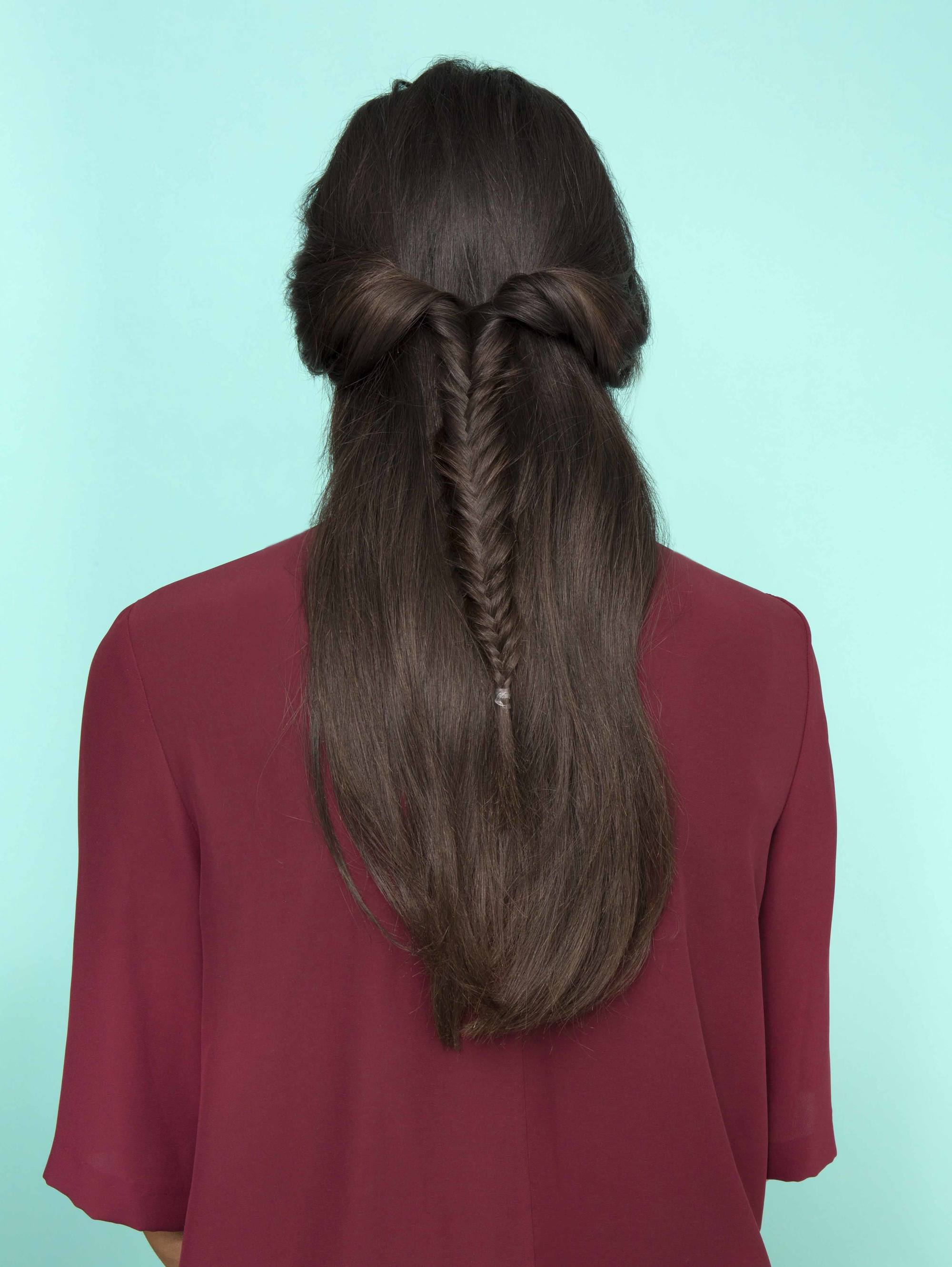 Party braids can be worn in half up, half down styles.