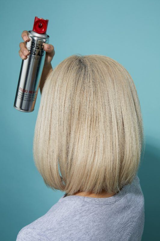 how to blow dry short hair hairspray