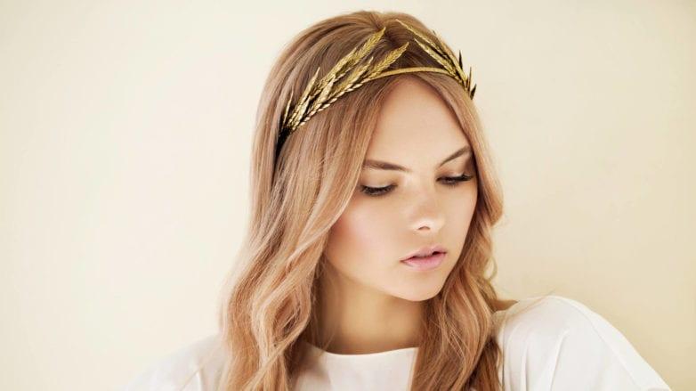Metallic Accessories gold headband