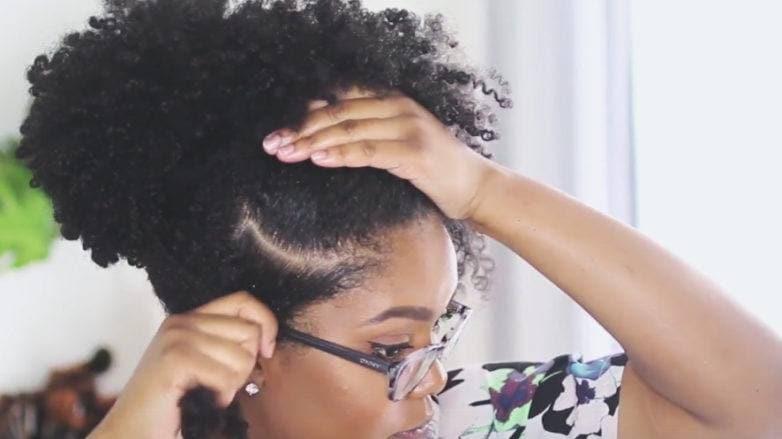 natural curly hair tutorial starts when you part your hair