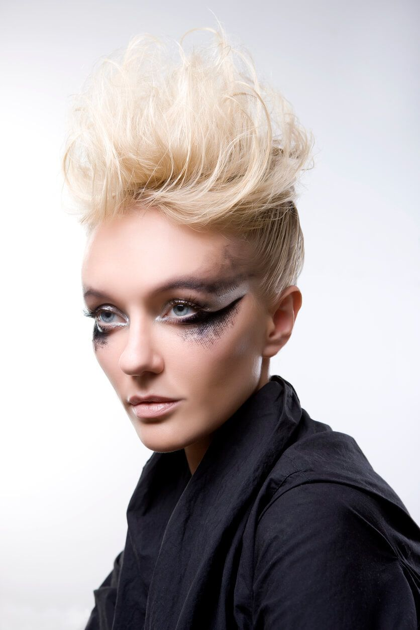 mohawk hairstyles for women with texture