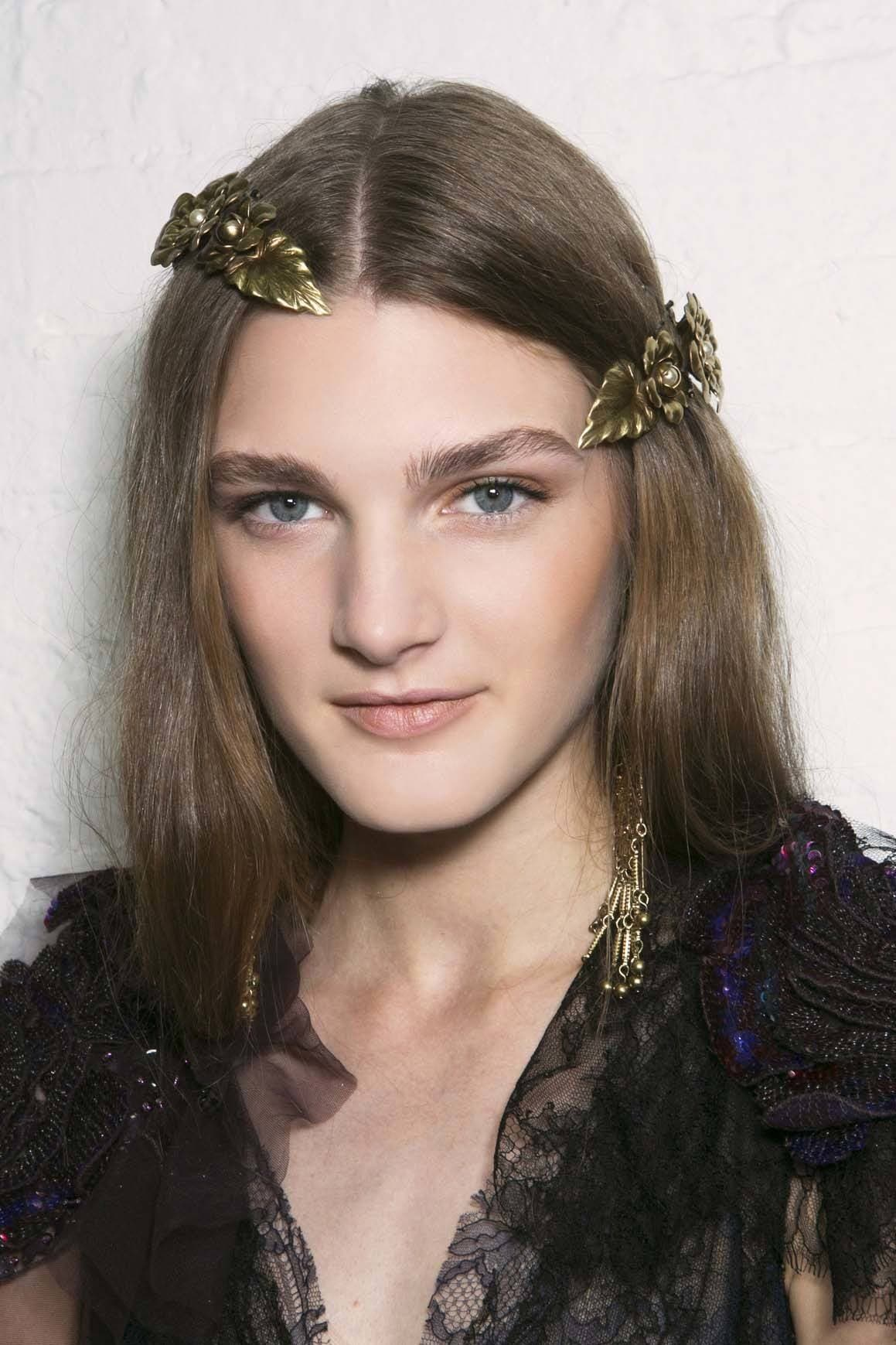 New Hair Trends include bold and eye-catching accessories.