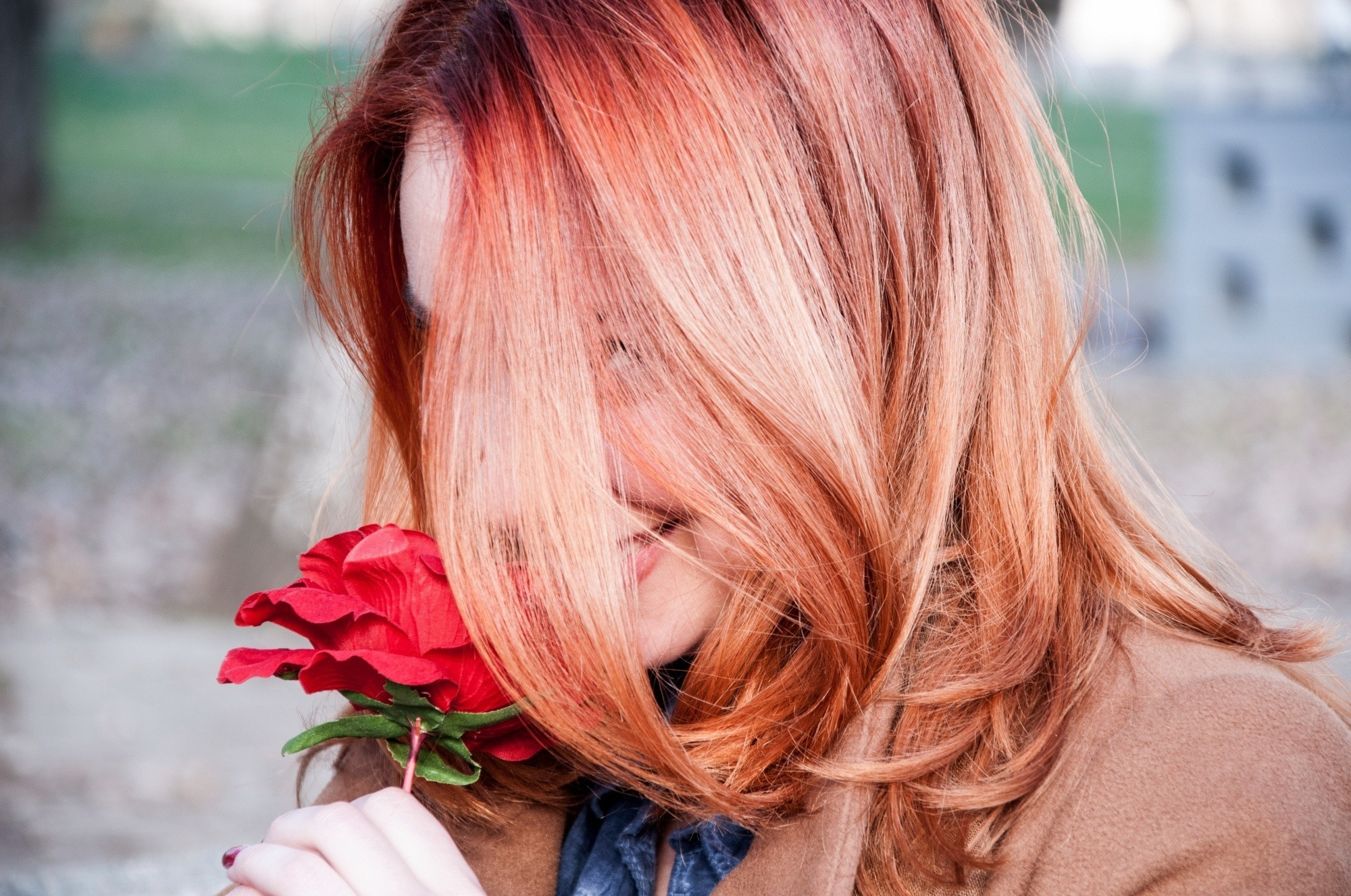 Blorange is a great way to style Red Hair With Highlights