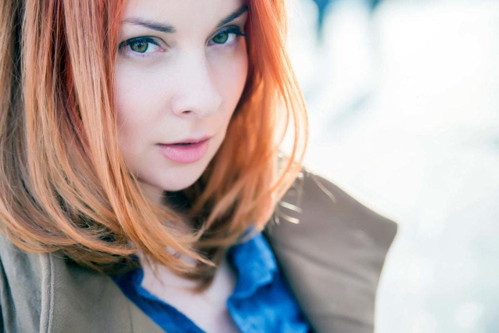 An Orange Ombre Is A Perfect Way To Dress Up Red Hair With Highlights
