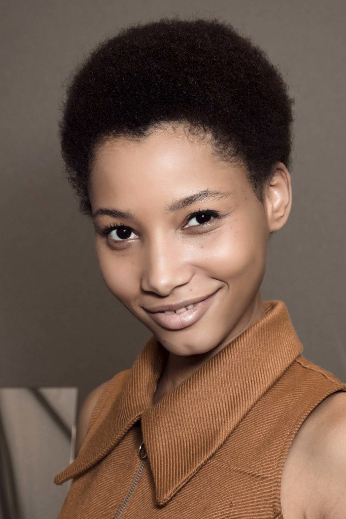 short hairstyles for black women: afro