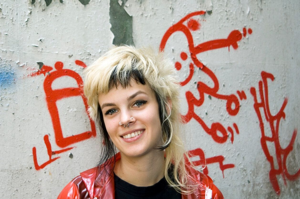 punk short hairstyles with a shag