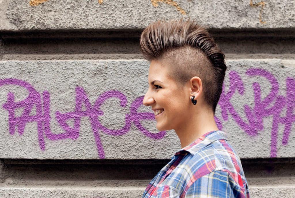 short punk hairstyles: undercut and mohawk