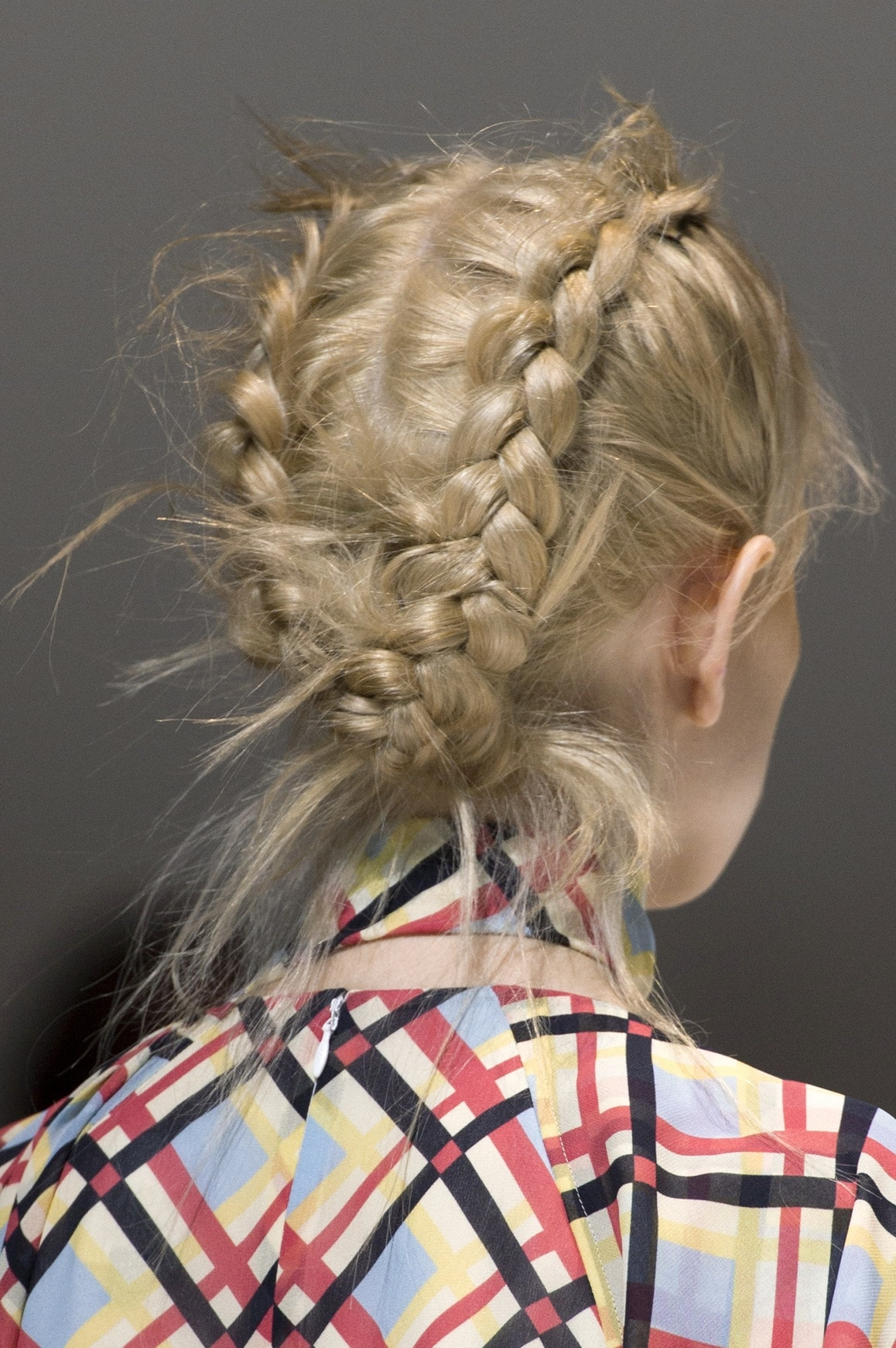Simple updo ideas you can wear to prom. Dutch braided updo.
