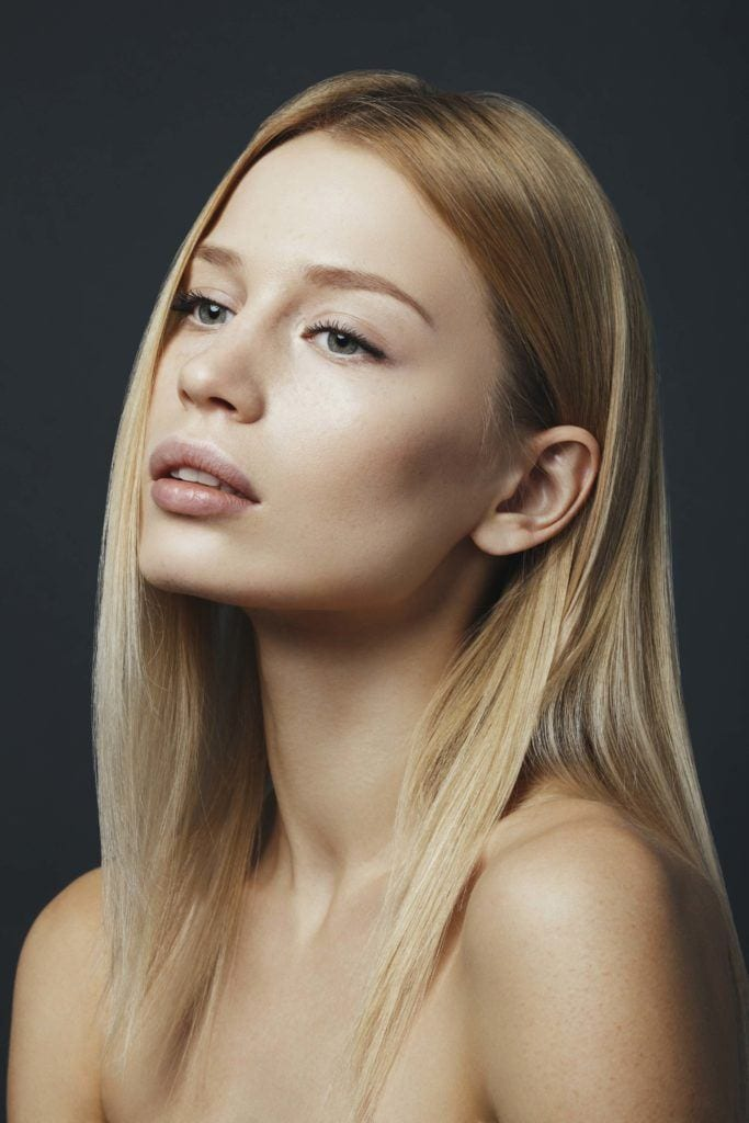 Different ways to wear the sleek hair trend for spring.