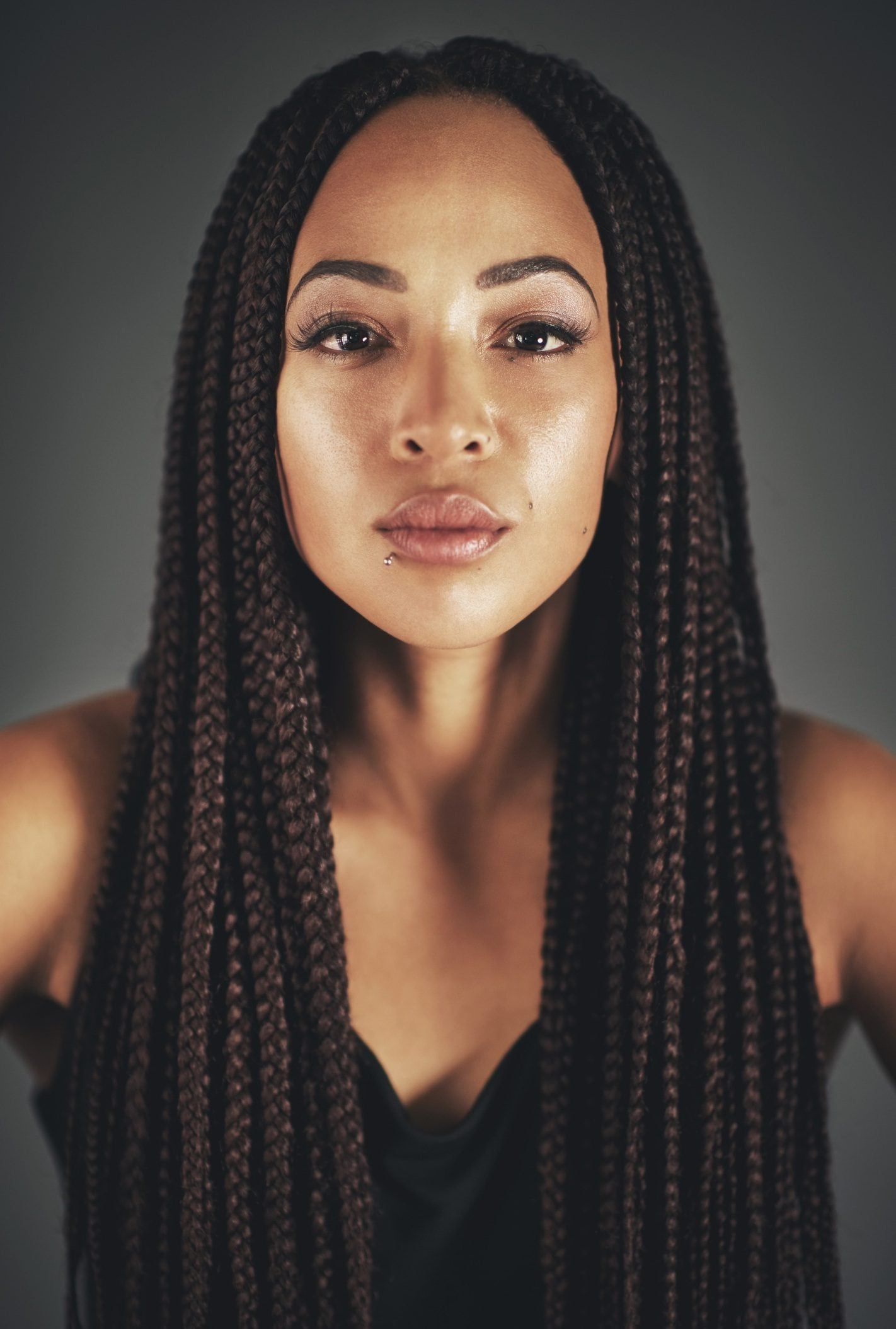 black braided hairstyles like box braids