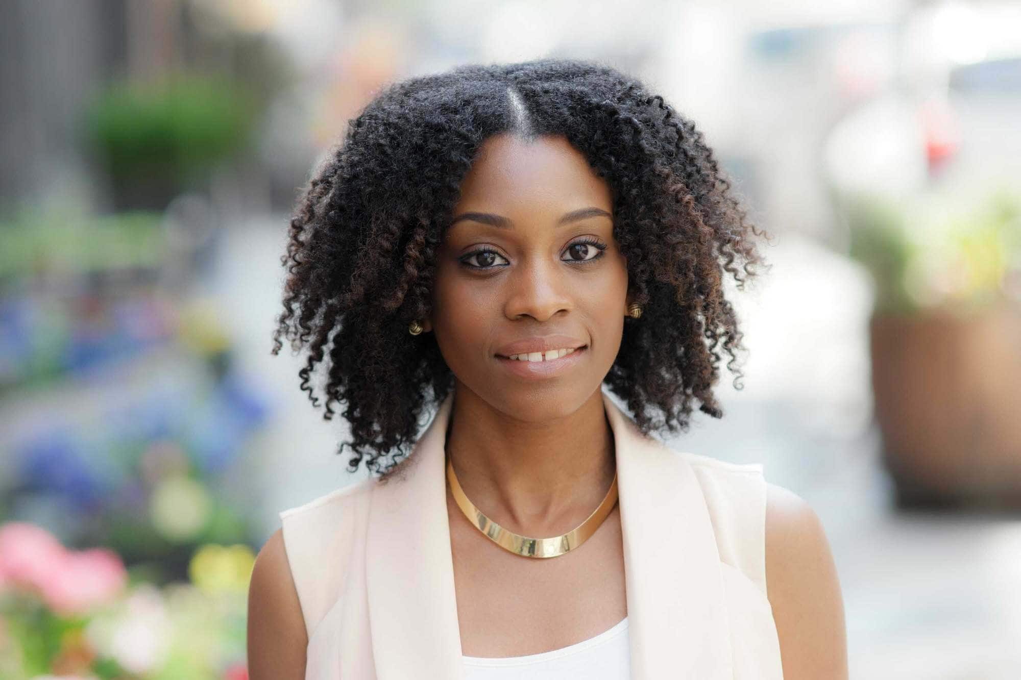 braid out style worn down on natural hair