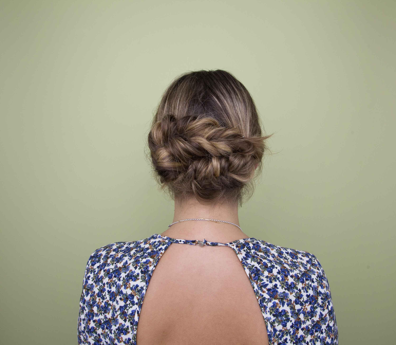 hair braiding ideas low braided updo