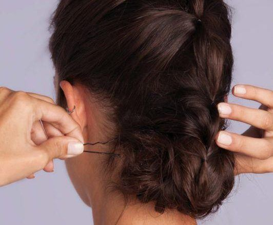 braid styles tutorial: ponytail updo