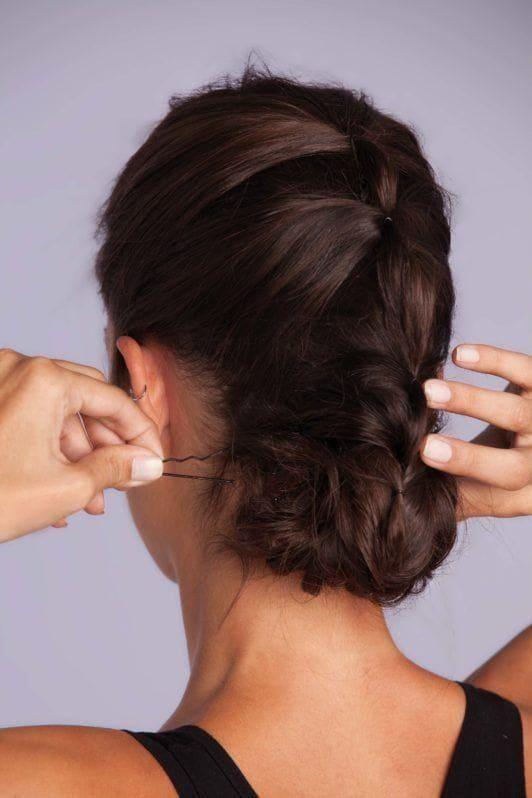 braid styles tutorial: ponytail updo